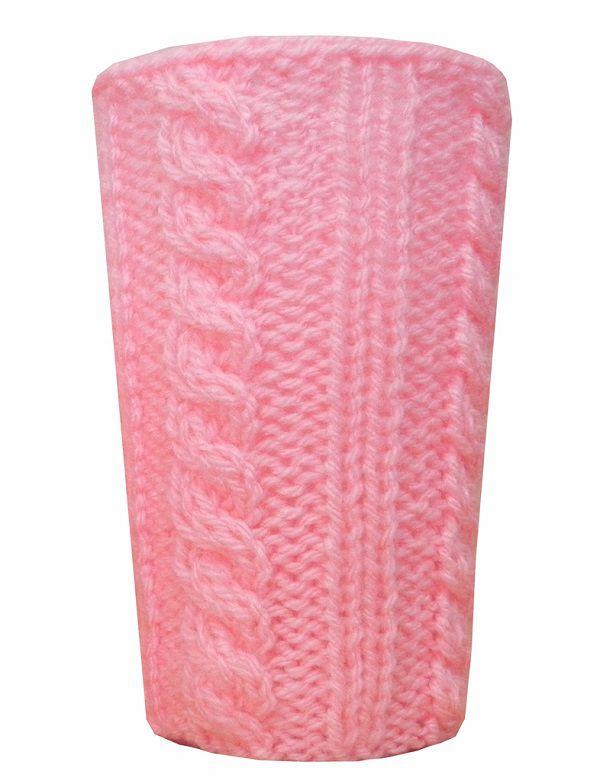 -Porta-treco - Tricô rosa grande