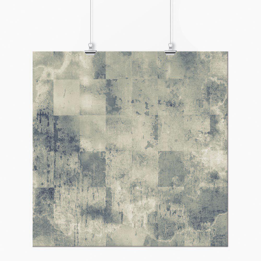 Pôster - Abstrato Cinza