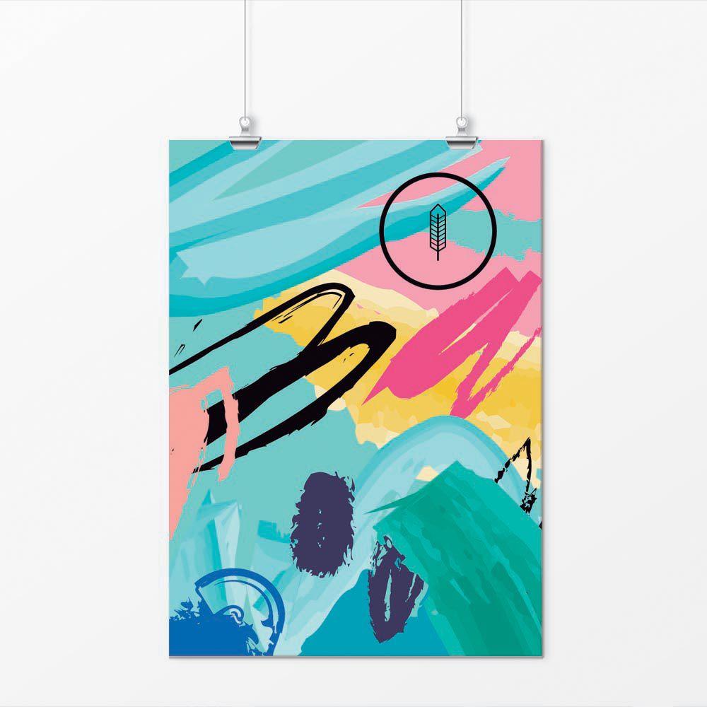 Pôster - Abstrato Hippie Colorido 1