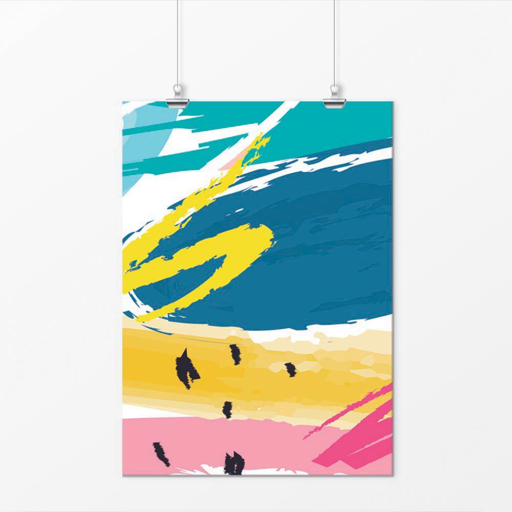 Pôster - Abstrato Hippie Colorido 3