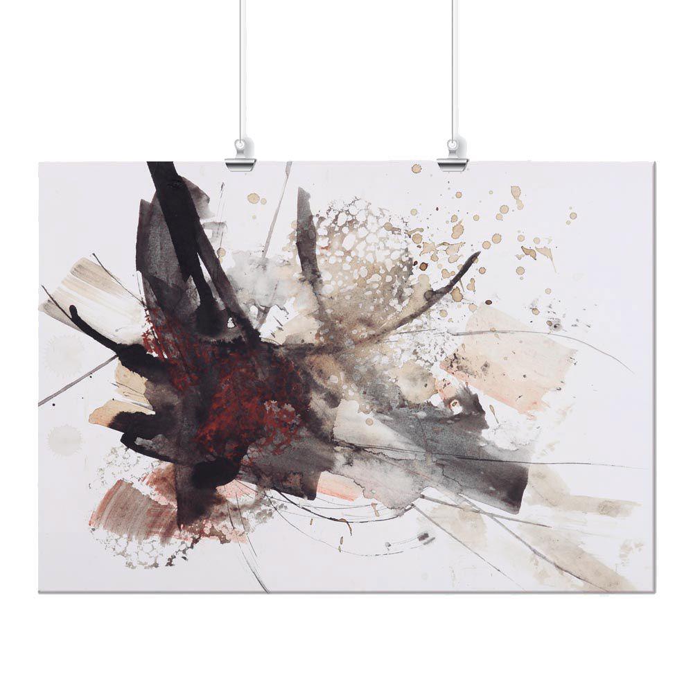 Pôster - Abstrato Pintura Marrom