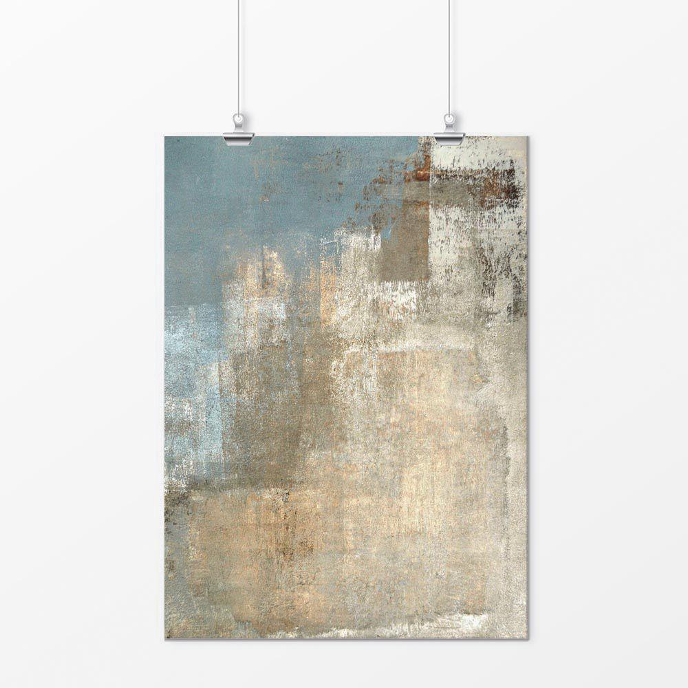Pôster - Abstrato Pintura Neutra