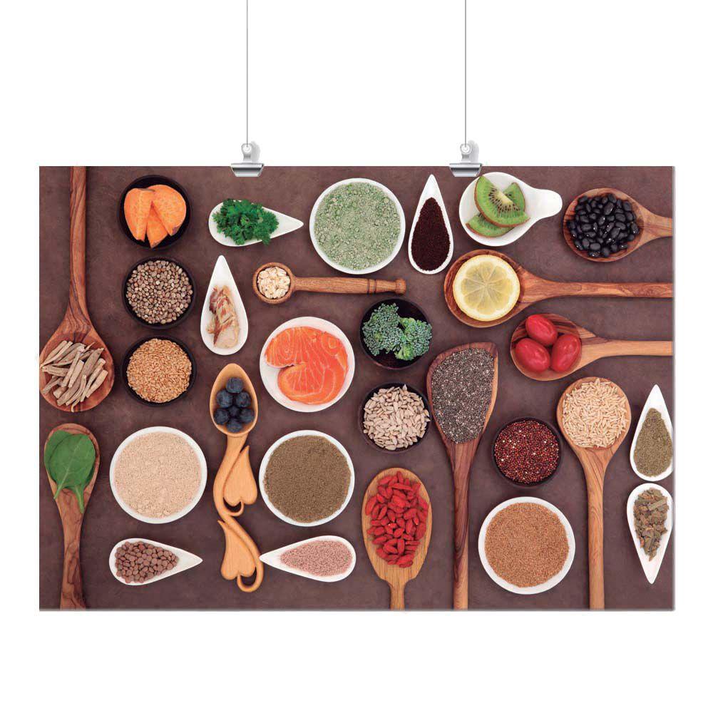 Pôster - Alimentos Colorido