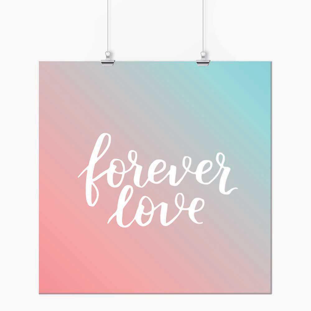 Pôster - Forever Love Rosa e Azul