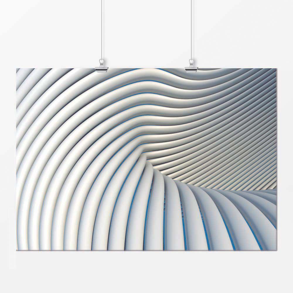 Pôster - Geométrico Branco 1