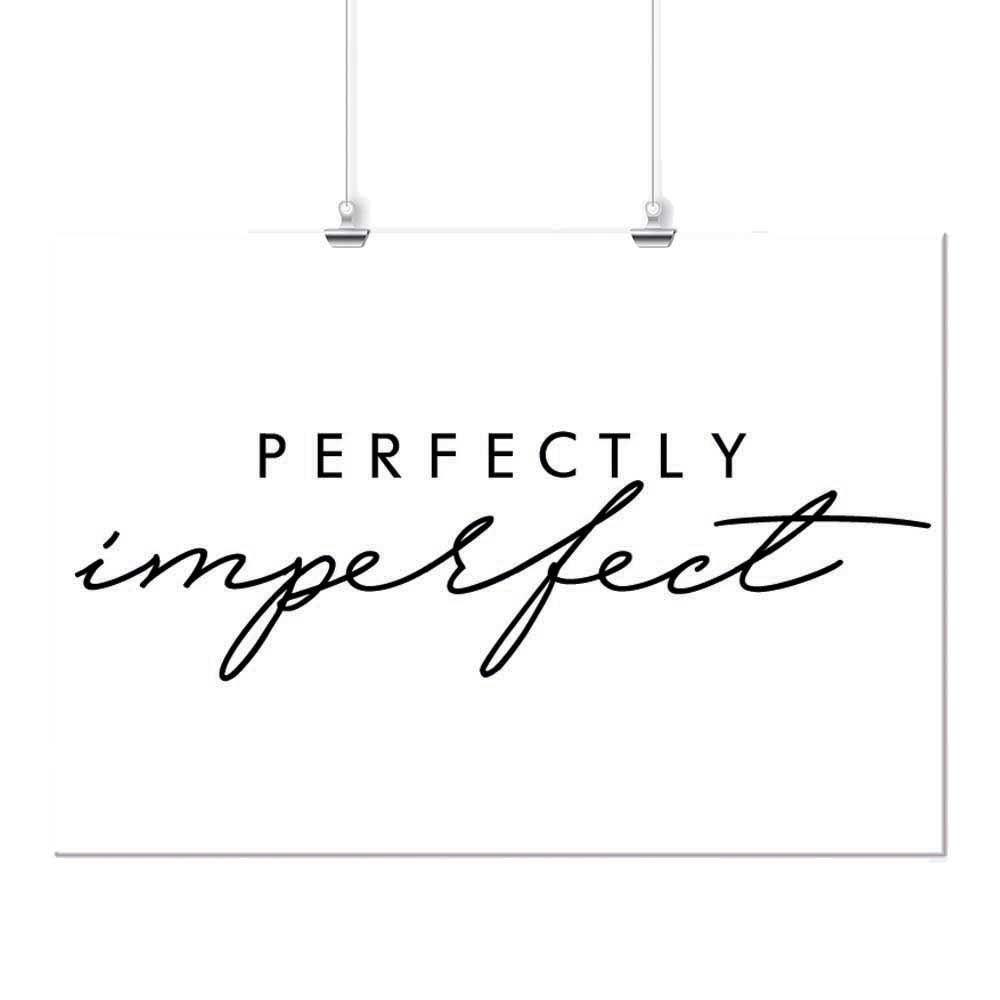 Pôster - Imperfect Preto e Branco