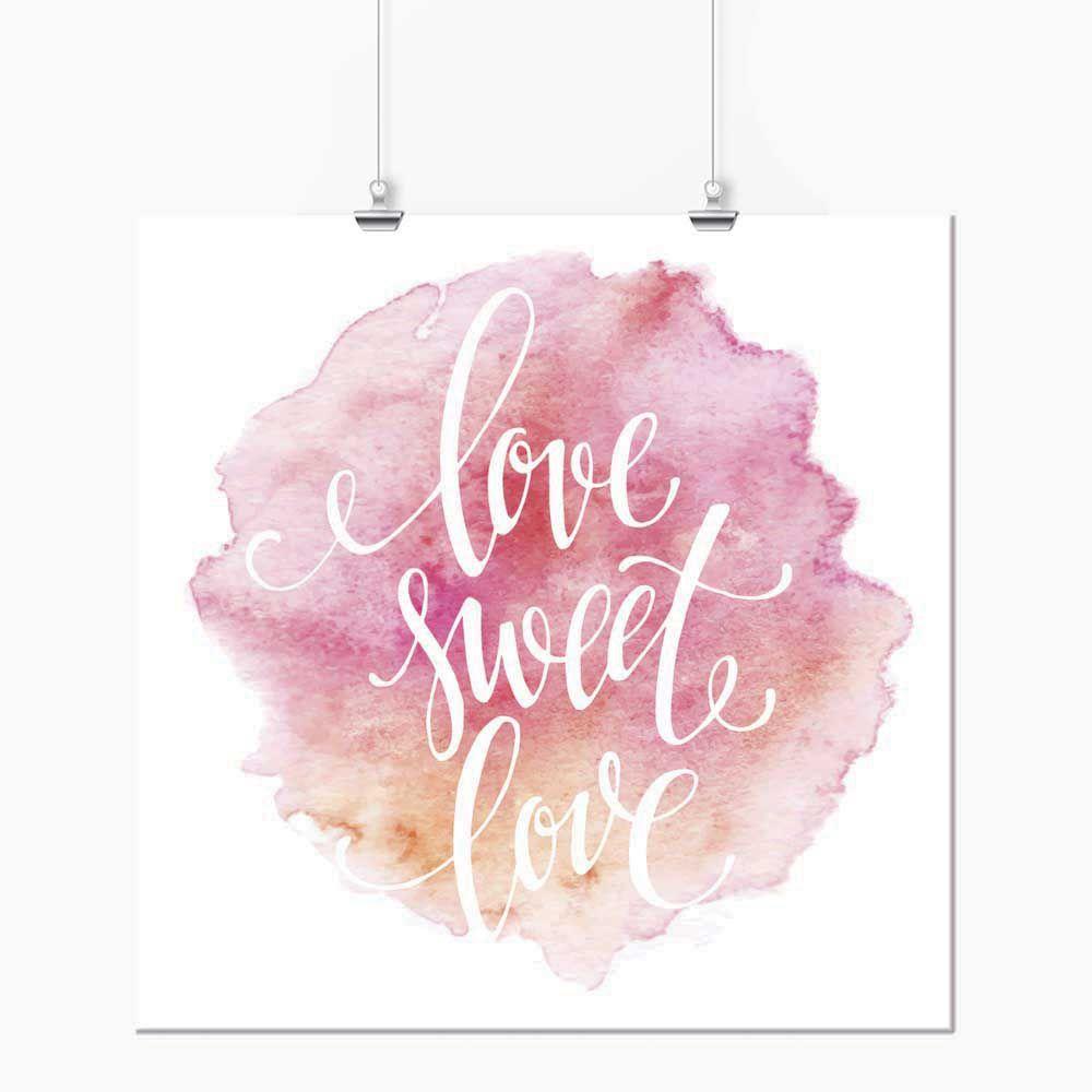 Pôster - Love Sweet Love Rosa