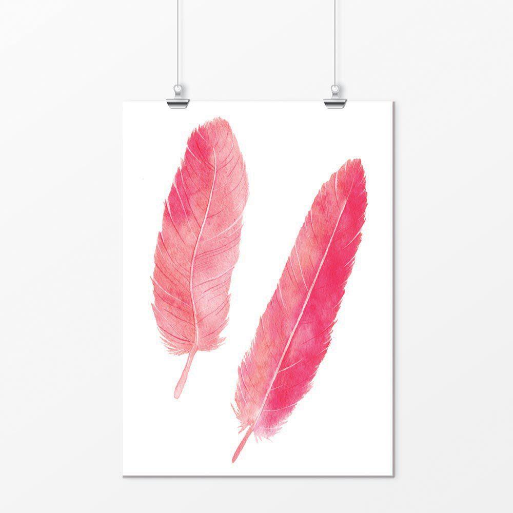 Pôster - Pena Flamingo Rosa