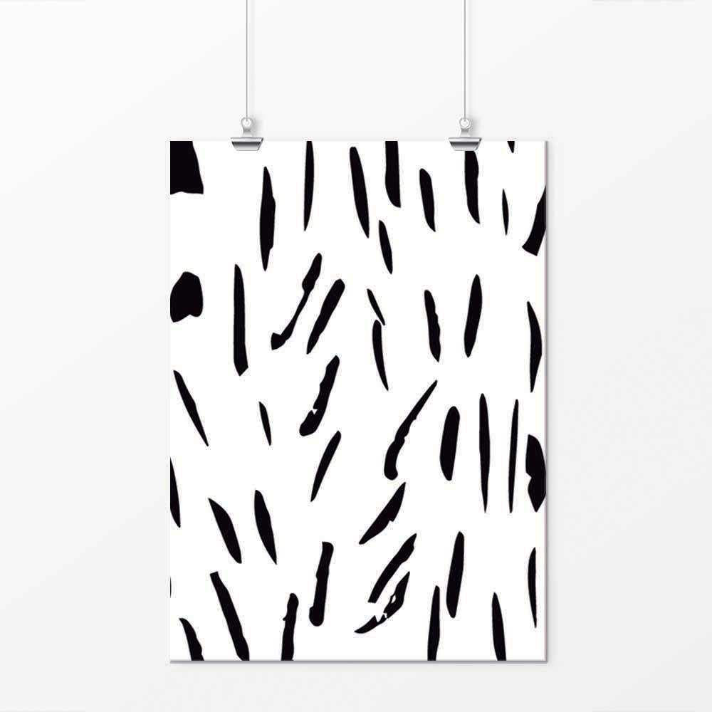 Pôster - Simple Preto e Branco 4