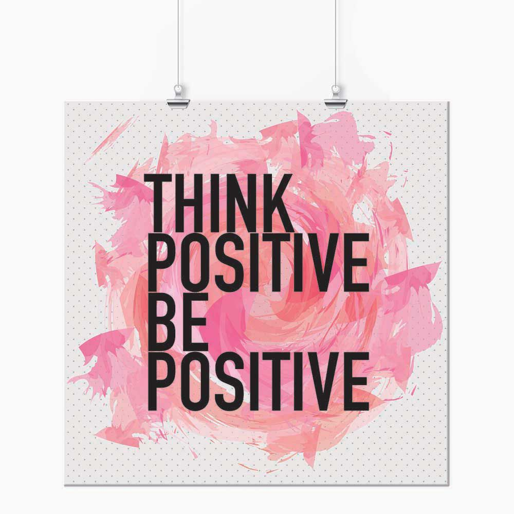 Pôster - Think Positive Rosa