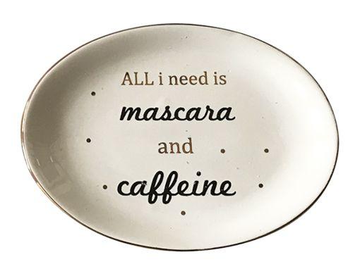 -  Prato multiuso - Mascara and caffeine branco