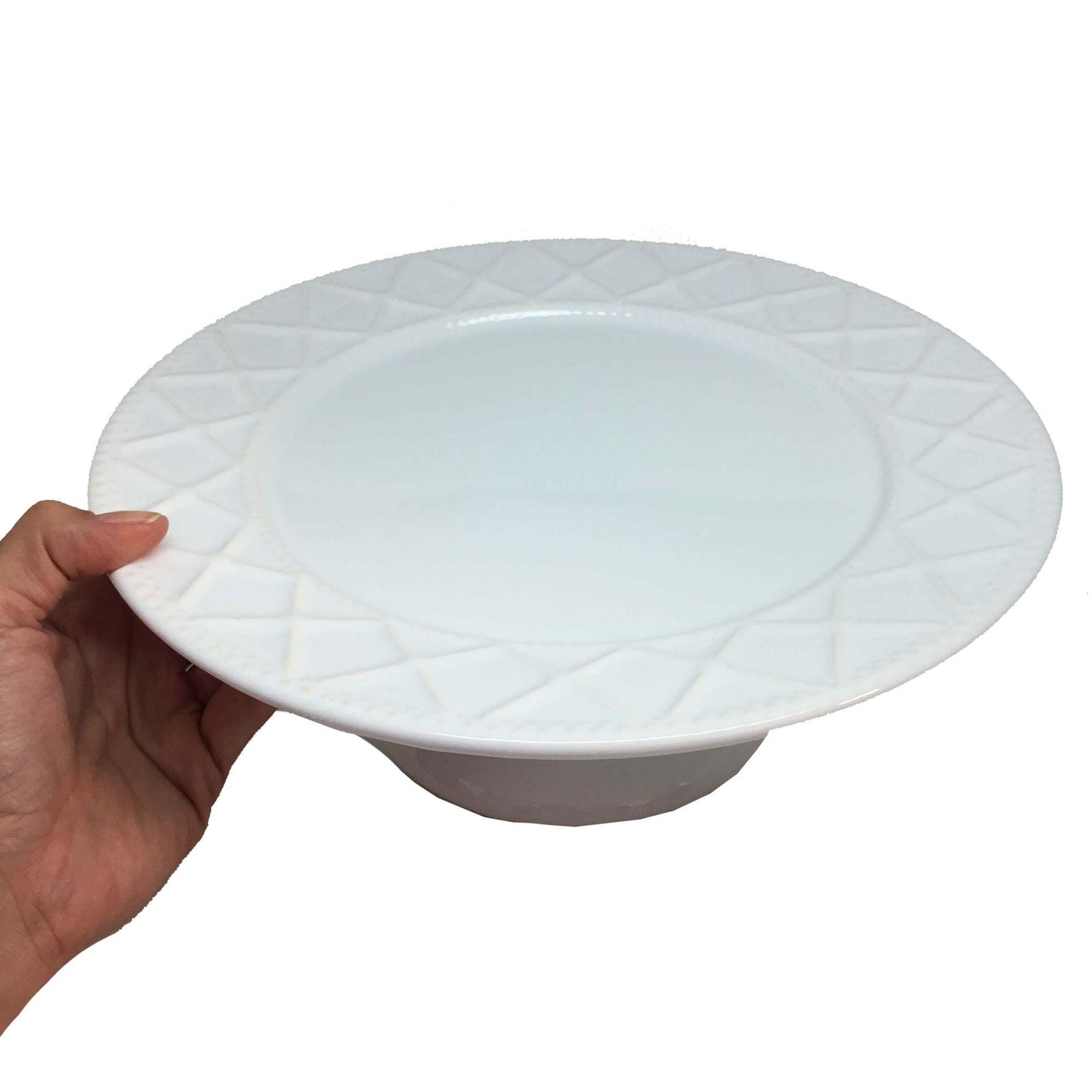 Prato para Bolo Branco