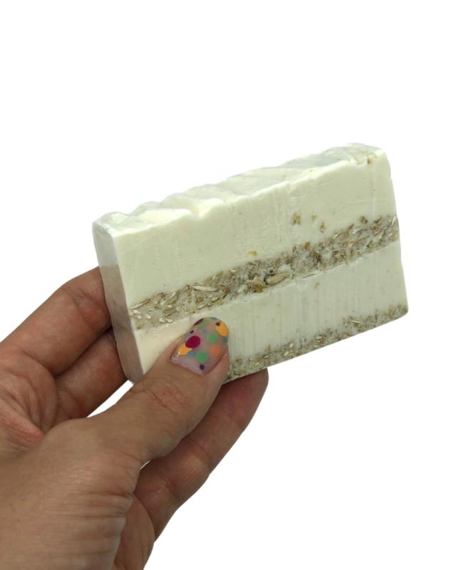 Sabonete Artesanal Esfoliante com Aveia