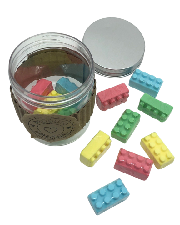 Sabonete Artesanal Perfumado Lego Colorido