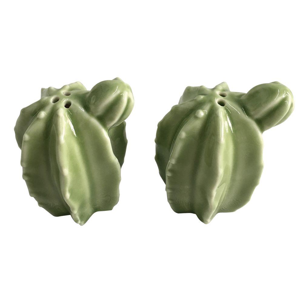 -Saleiro e pimenteiro - Cactos verde