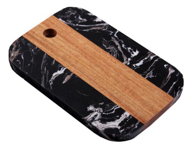 -  Tábua de servir - Retangular de mármore preto grande