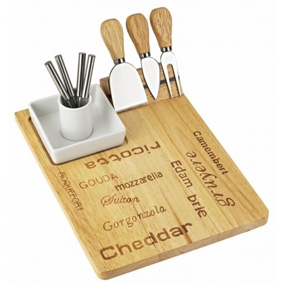 -Tábua - Petisqueira queijos madeira e porcelana com facas e garfinhos