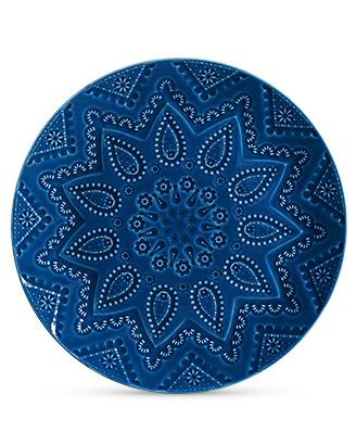 Travessa Redonda Mandala Azul Grande