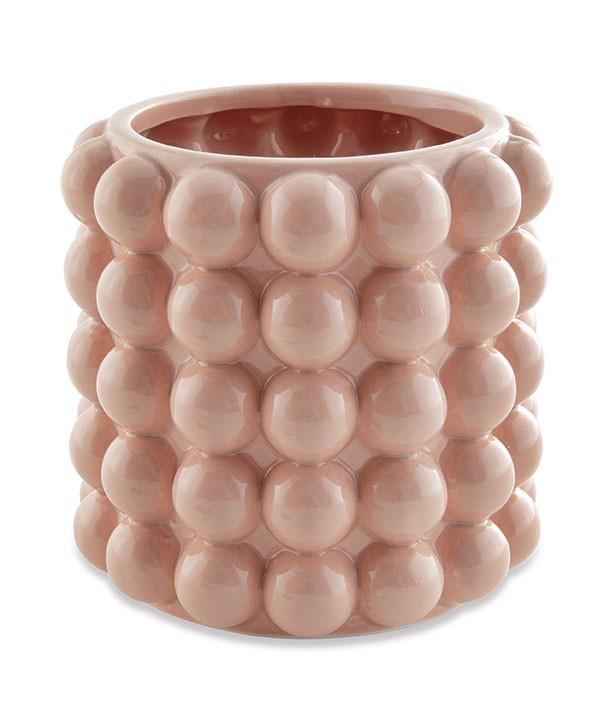 Vaso Cachepô Decorativo Bolas Rosé