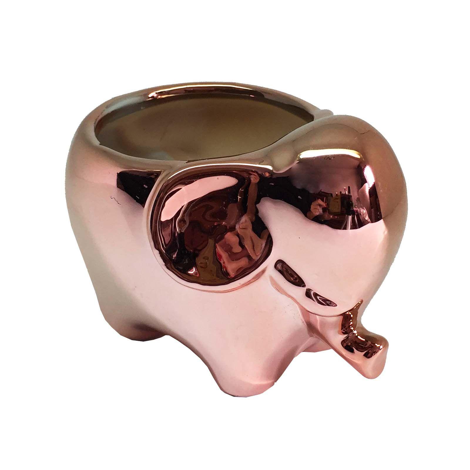 Vaso Cachepot Elefante Rose Gold