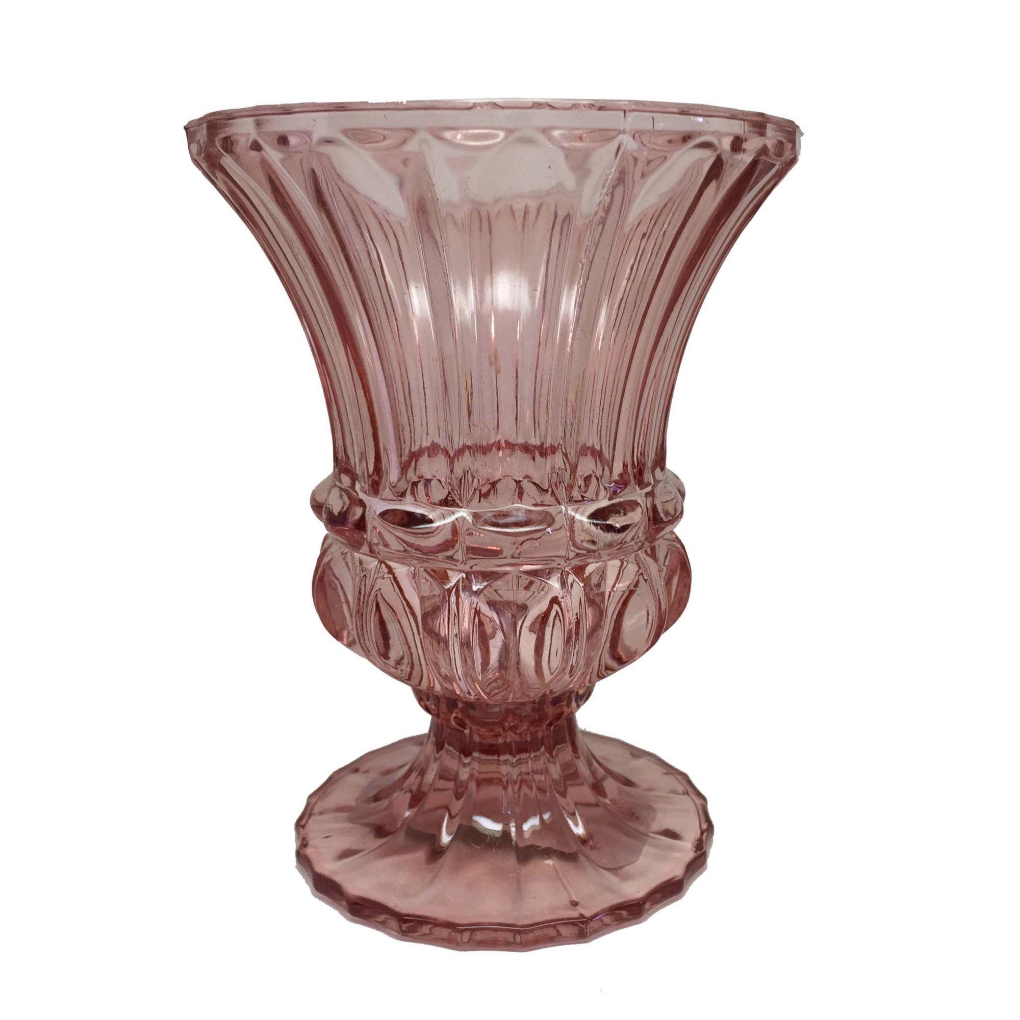 Vaso de Vidro Marsala Médio