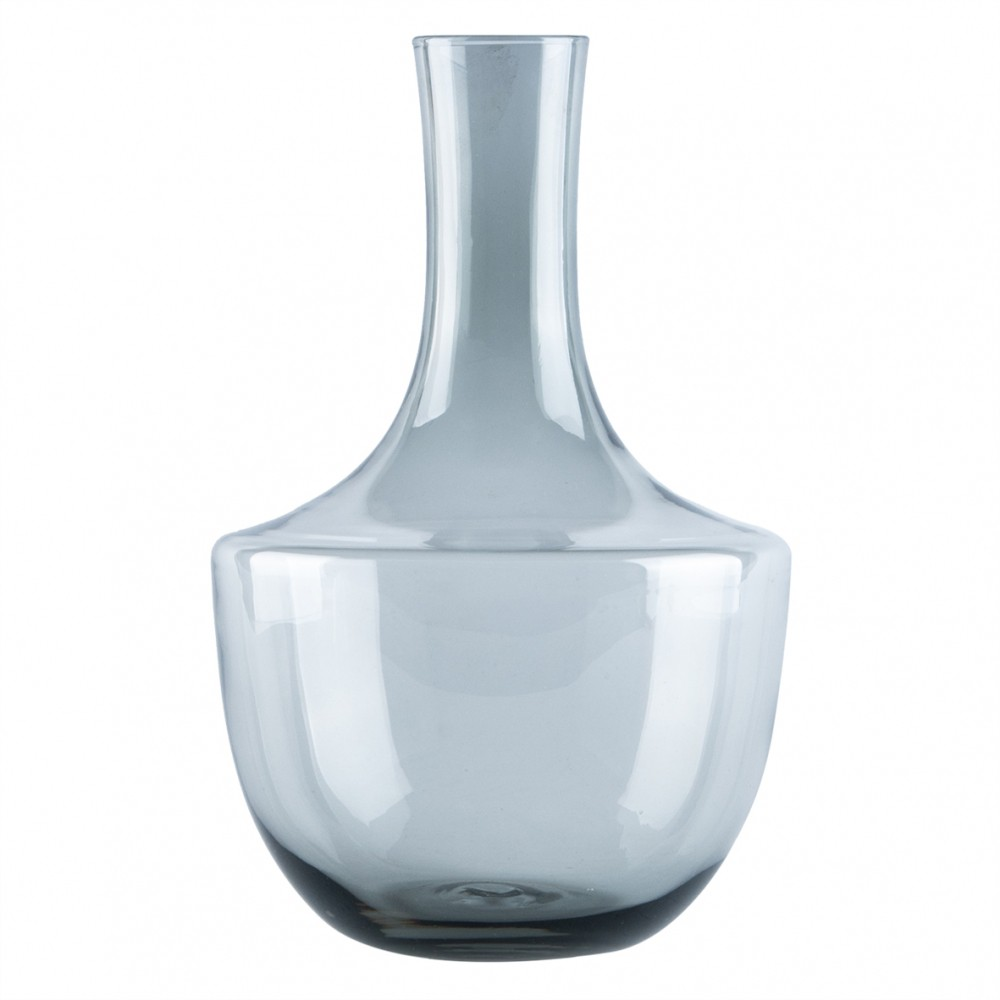 Vaso de Vidro Transparente Fumê Bojudo