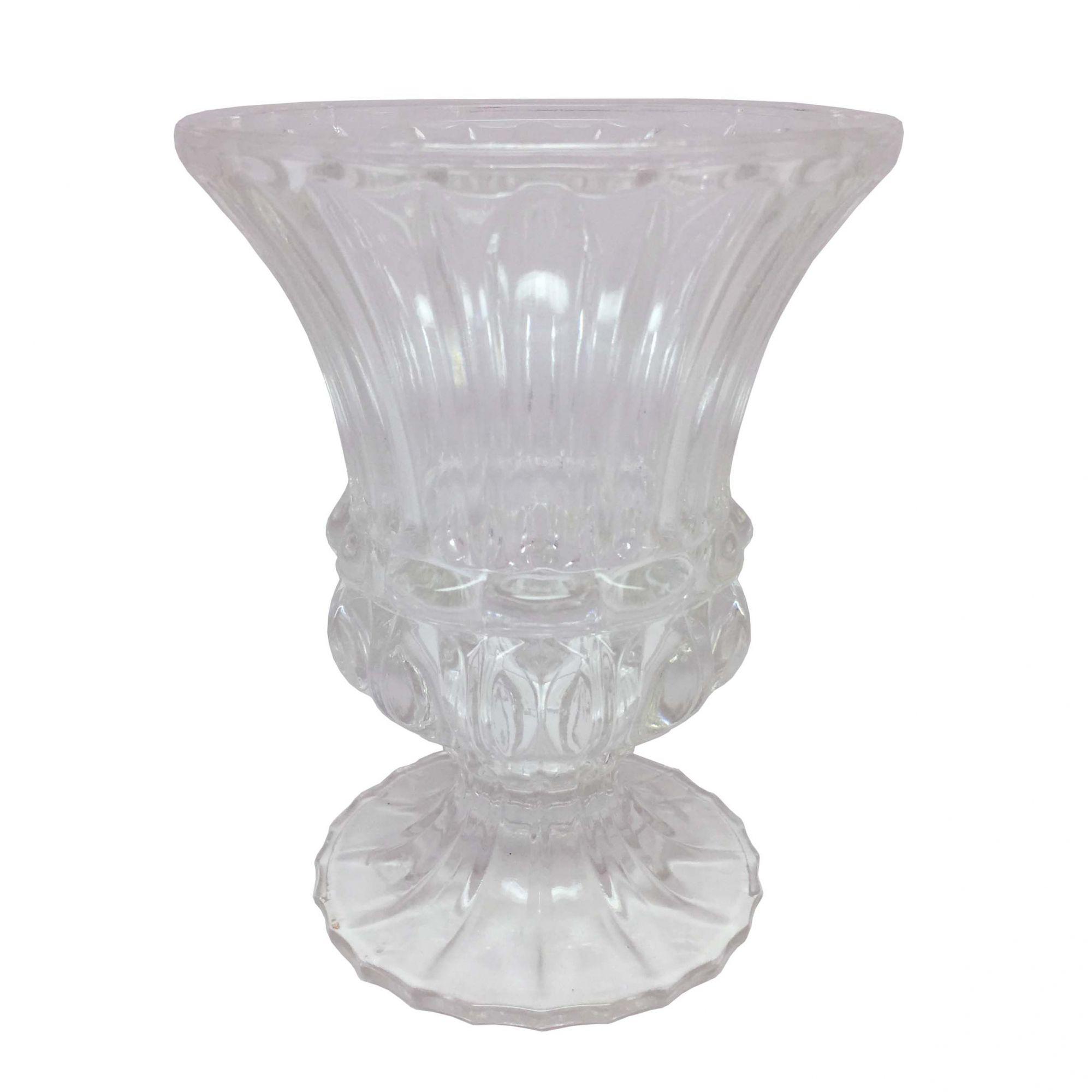 Vaso de Vidro Transparente Médio
