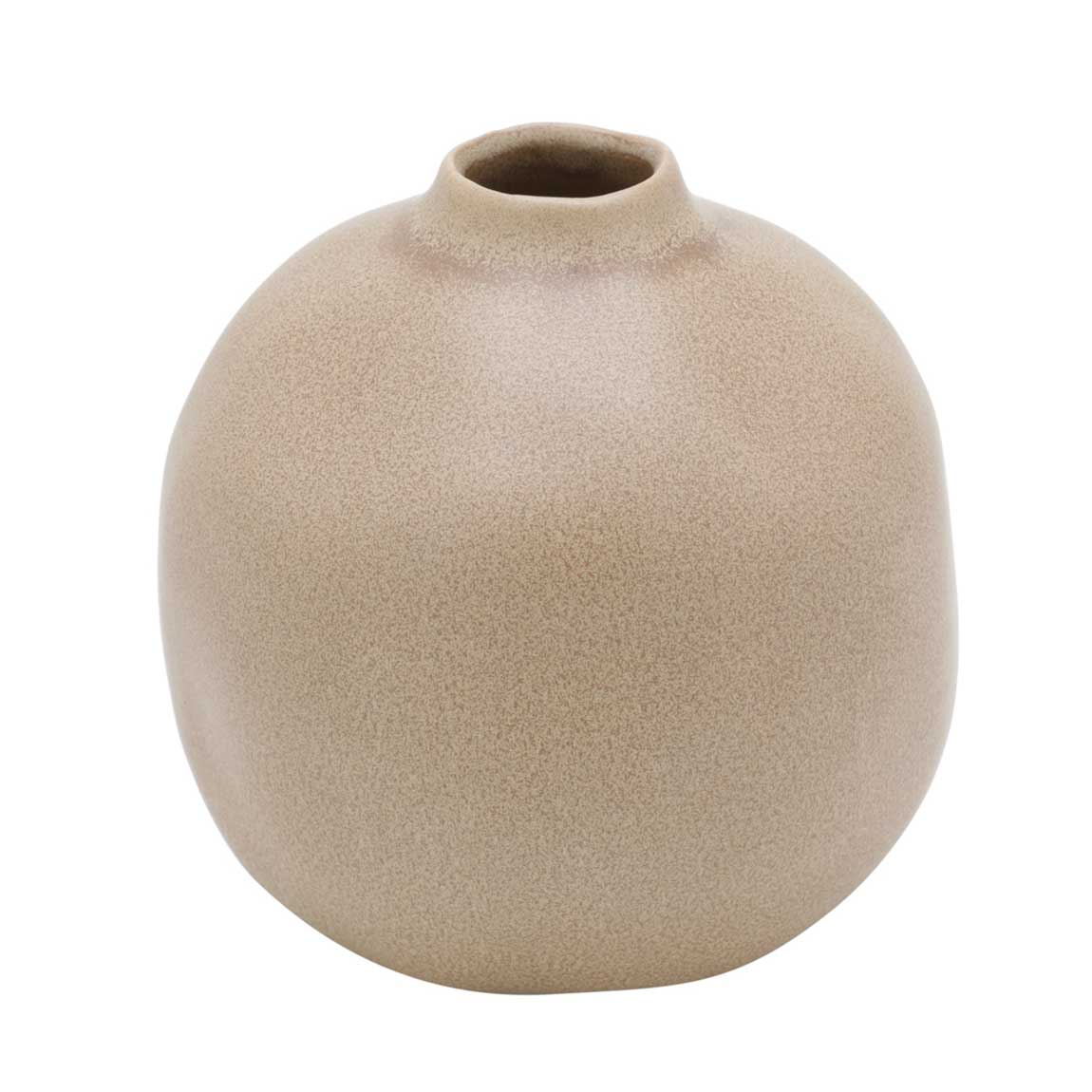 Vaso Decorativo de Cerâmica Bola Marrom