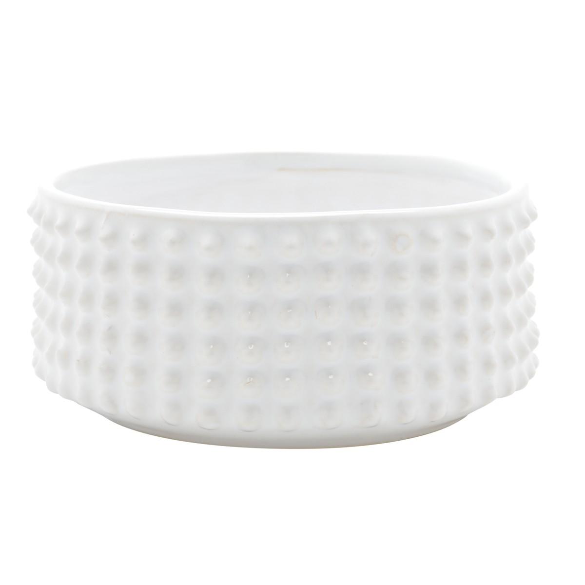 Vaso Decorativo de Cerâmica Spikes Branco