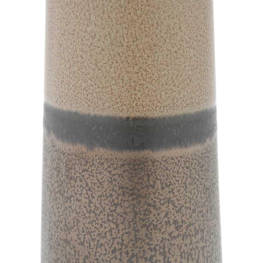 Vaso Decorativo de Cerâmica Tubo Cinza com Bege Pequeno