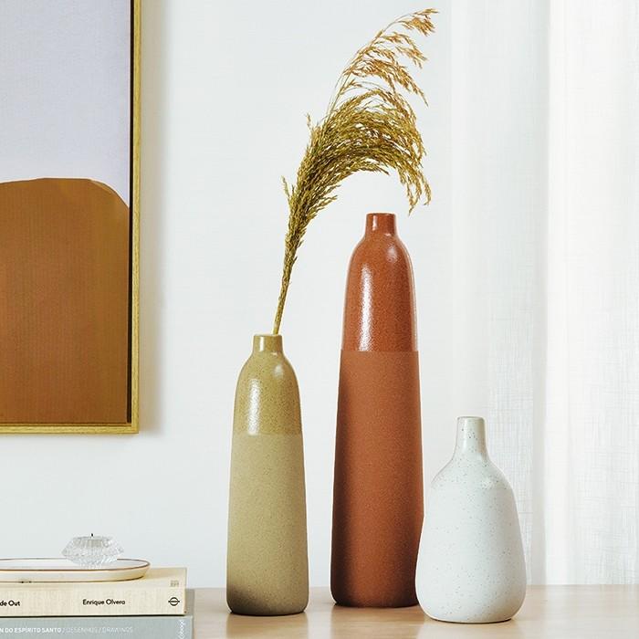 Vaso Decorativo Orgânico Palha