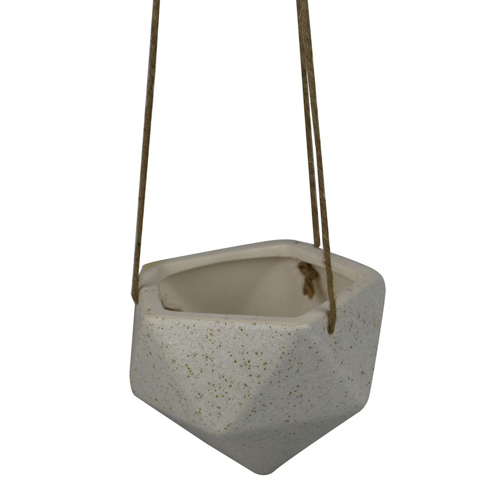- Vaso - Pendente de cerâmica bege