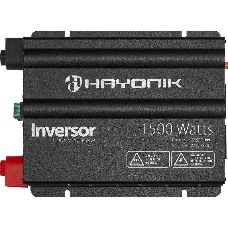 INVERSOR HAYONIC 1500W 12VDC220V USB ONDA MODIFICADA GD