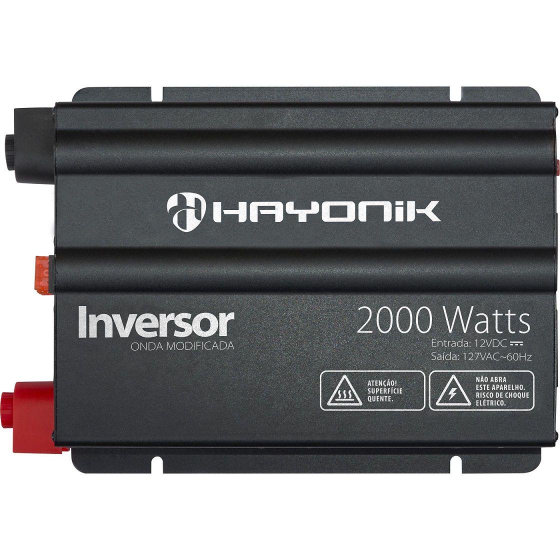 INVERSOR HAYONIC 2000W 12VDC/127V ONDA MODIFICADA GD