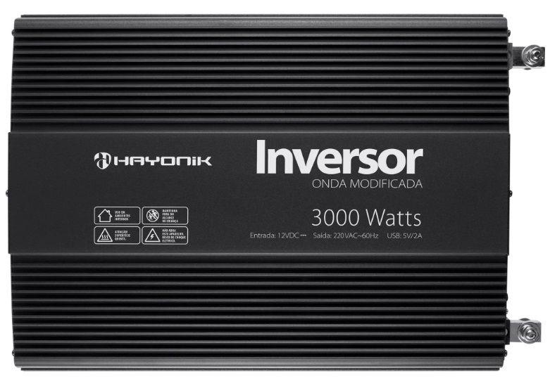 INVERSOR HAYONIC 3000W 12VCC220VCA ONDA SENOIDAL MODIFICADA USB