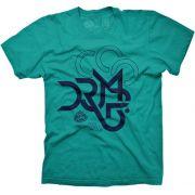 Camiseta Large DRUMP Masculina Mosaico Azul Petroleo