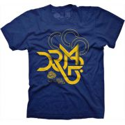 Camiseta Large DRUMP Masculina Mosaico Azul Royal