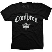 Camiseta Masculina Large Drump Compton Preta