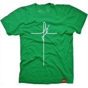 Camiseta Large DRUMP Masculina FÉ Verde Brasil