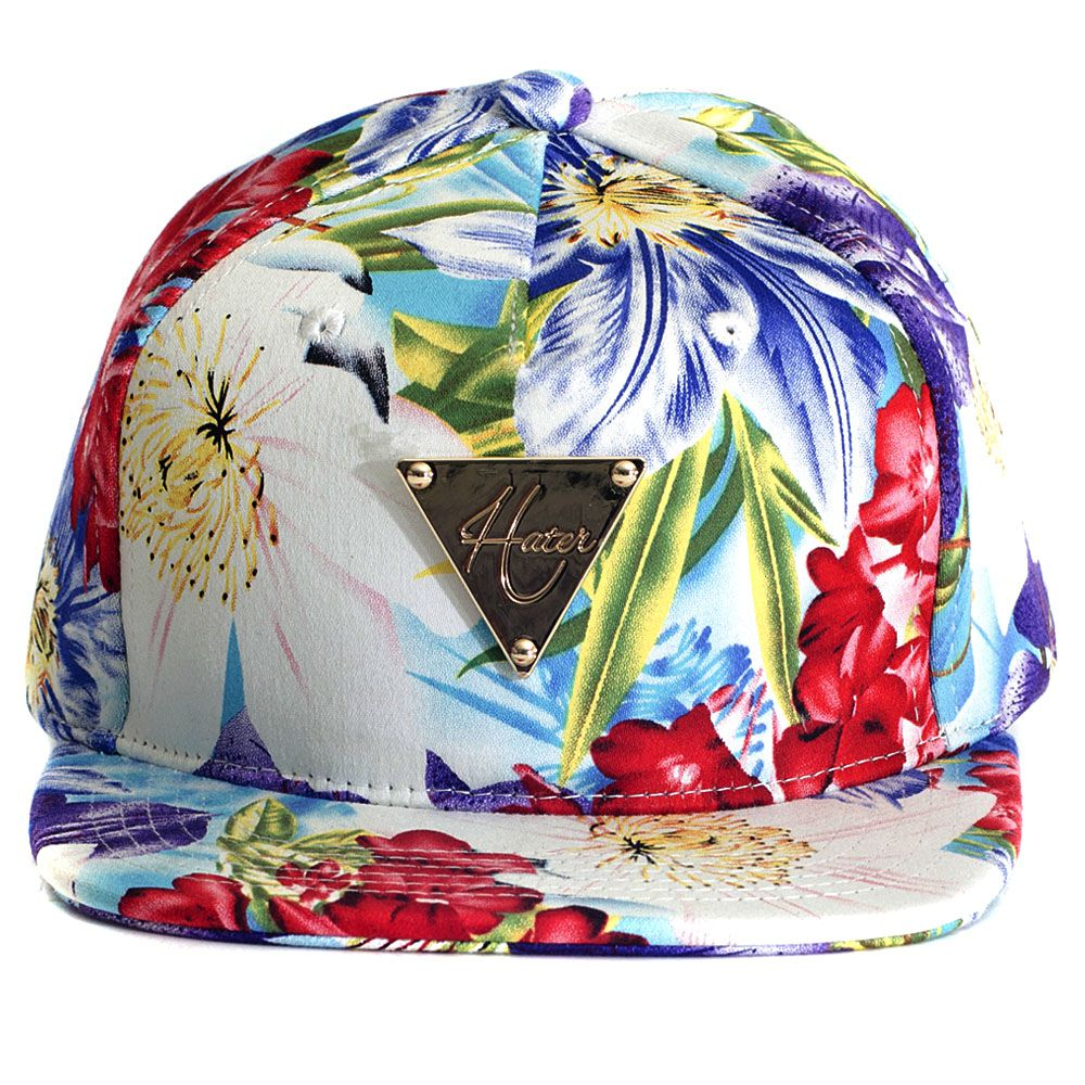 Boné Hater Snapback Aba Reta New Era Floral 02 - Cap Original