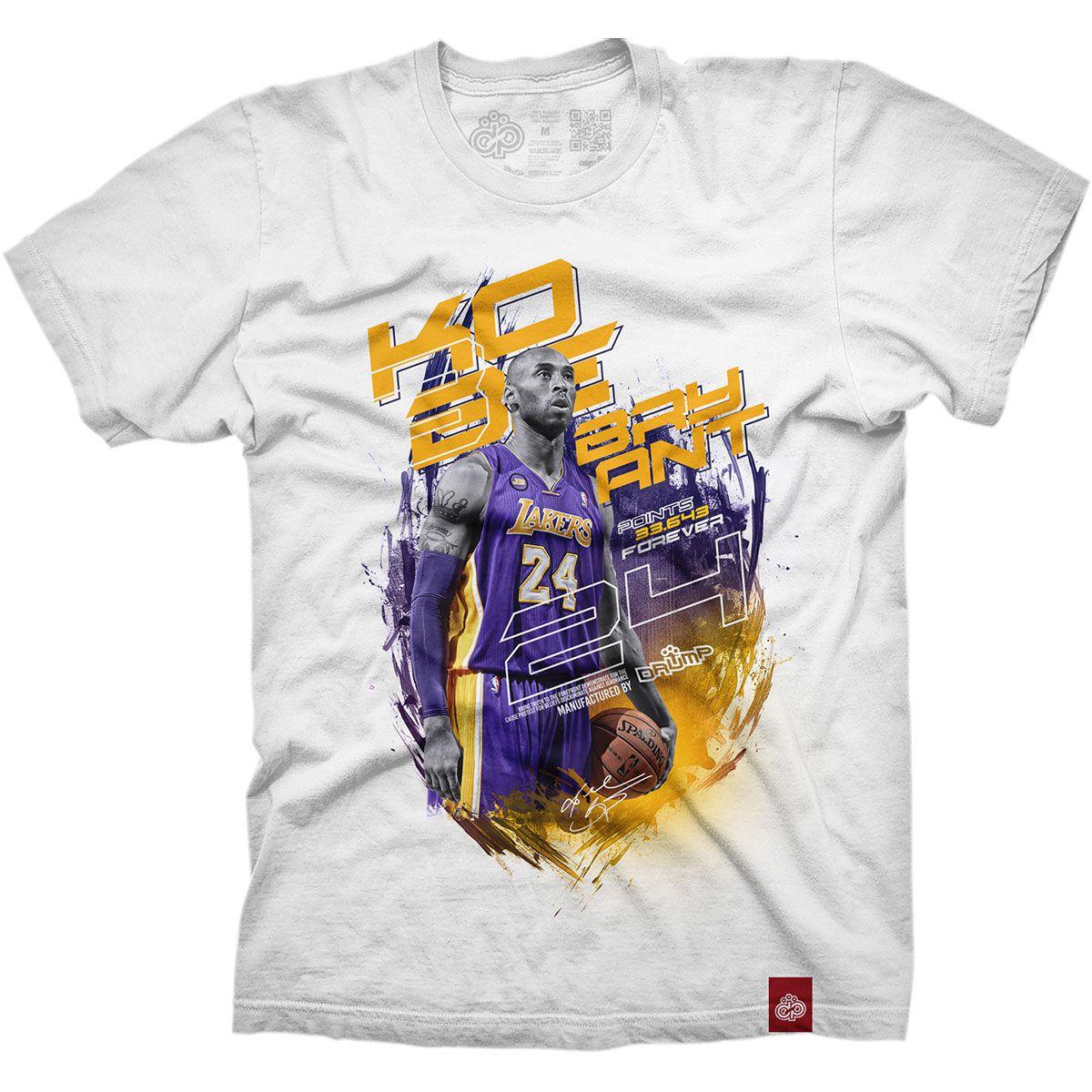 Camiseta Masculina Large Drump KOBE BRYANT Branca
