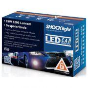 Kit Lâmpada Led H4 Com Reator - Luz Branca 6000k 12/24v