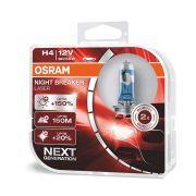 Par Lâmpada Farol H4 12v Osram Night Breaker Laser 150% + Luz Next Generation