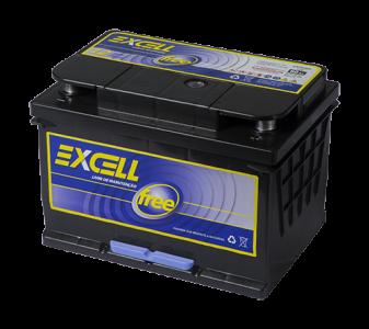 Bateria Excell Free 60ah Blindada - FRETE GRÁTIS