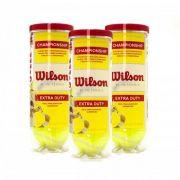 Bolas De Tênis Wilson Championship Extra Duty - Pack Com 3 Tubos