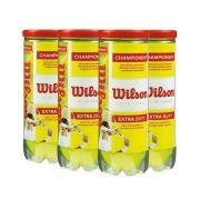 Bolas De Tênis Wilson Championship  Extra Duty Pack Com 6 Tubos
