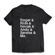 Camiseta Roger, Rafa, Novak, Andy, Serena & Me