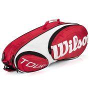 Raqueteira Wilson Tour 6 Pack VM/BR