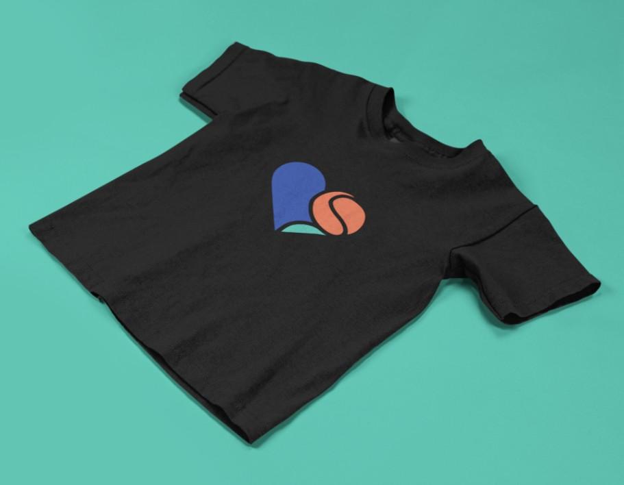 Camiseta AMO TÊNIS  >>  2 a 14 anos