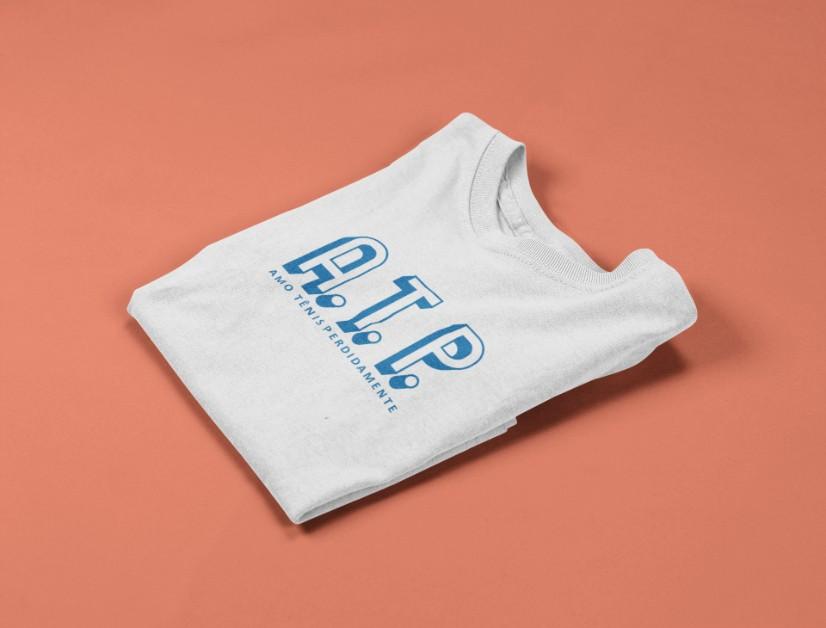 Camiseta ATP (AMO TÊNIS PERDIDAMENTE) >>  2 a 14 anos